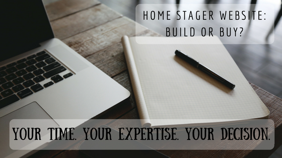Should a Home Stager purchase or build a website? Stager Sidekick explains how to build a home stager website and how to buy a home stager website.